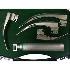 Fiber Optic Laryngoscope Set of 4 Blades with Handle